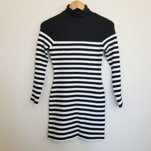 Topshop Striped Ribbed Dress Size 2